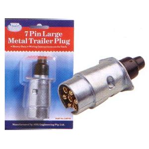 Large 7 pin Plug Chrome - Male