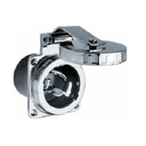 Shore Power Accessories - Traditional stainless shore power inlet