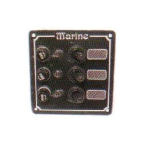 Switch panel aluminium-code00253