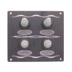 Switch panel aluminium